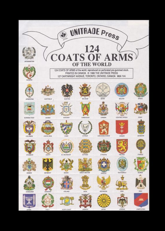 124 COAT OF ARMS OF THE WORLD STAMP SEAL COLLECTION
