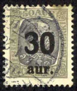 Iceland Sc# 137 Used 1925 30a Overprints