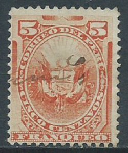Peru, Sc #108, 5c Used