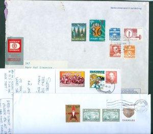 Denmark. 3 Covers/Card. 1982-86-96. With Christmas Seal.+ Hafnia. Addressed.