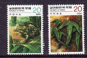 Korea-Sc#1155-56-Unused NH set-Rain Frog & Asian Polypody-1979-