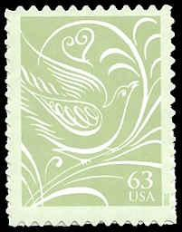 PCBstamps    US #3999 63c Dove facing right, 2006, MNH, (5)