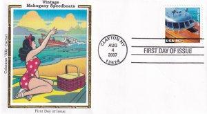 2007, Mahogany Speedboat-Hacker Craft,1939, Colorano Silk, FDC (E12300)