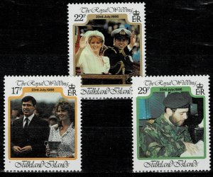 Falklands  1986 Royal Wedding MNH