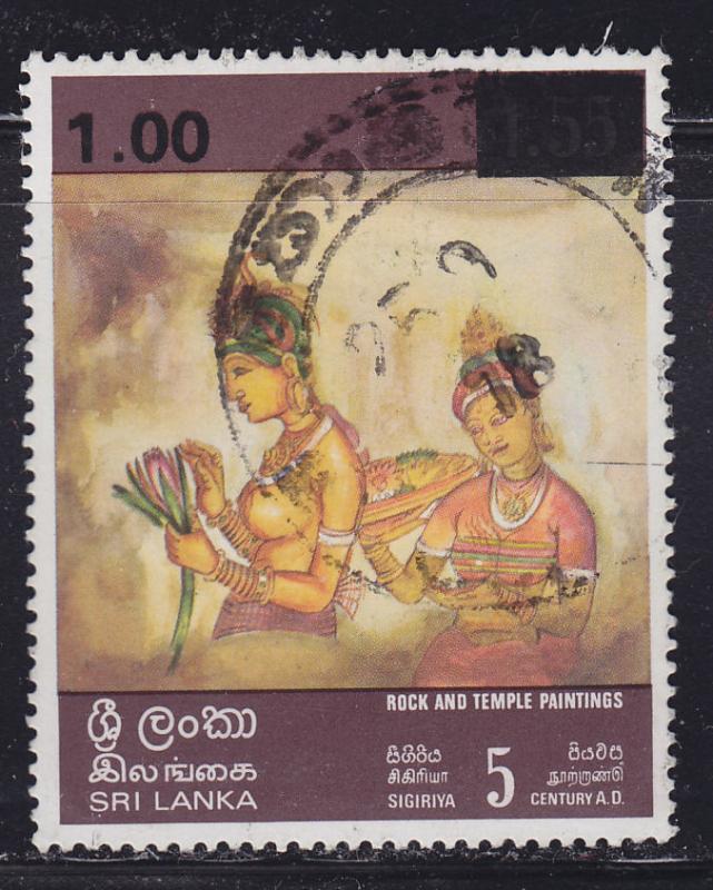 Sri Lanka 540 Woman Holding Lotus 1978