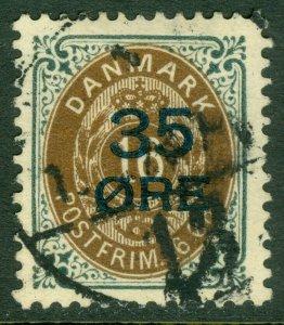 EDW1949SELL : DENMARK 1912 Scott #79 Very Fine, Used. Nice stamp. Catalog $65.00