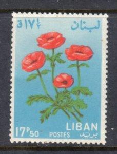 LEBANON 424 MH VF Flowers