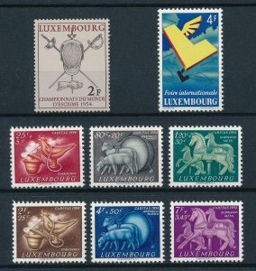 Luxembourg Luxemburg 1954 Complete Year Set MNH