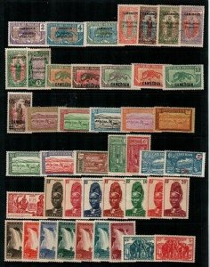 Cameroun- early collection of mint hinged (some NH) - clean lot - CV $135.00