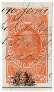 (I.B) US Revenue : Stamped Paper 2c (Franklin)
