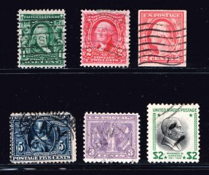 US STAMP 20TH  USED STAMPS COLLECTION LOT