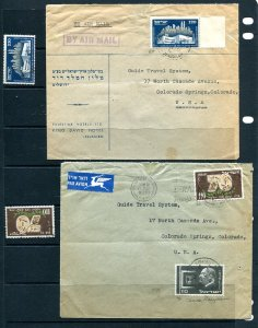 Israel 1953 2 Covers to USA Colorado 8973