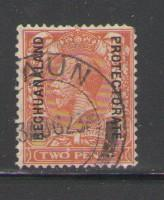 Bechuanaland Protectorate Sc 86 1913 2d George V stamp used