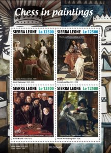 SIERRA LEONE - 2020 - Chess in Paintings - Perf 4v Sheet - Mint Never Hinged