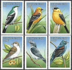 1988 Burkina Faso Song Birds, Uccelli, Oiseaux, complete set VF/MNH! LOOK!