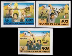 1982 Korea, North 2269-70b+2271b 1982 World championship on football of Spain 18
