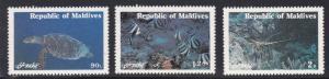 Maldive Islands # 897-899, Maringe Life, NH, 1/2 Cat.