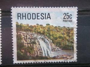 RHODESIA, 1978, used 25c, Scott 404, Definitive, Goba Falls