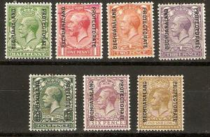 Bechuanaland Prot 1925-7 Scott 96-104 British Stamps overprinted as shown MLH