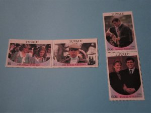 Tuvalu - 381-82, MNH Set in Pairs. Royal Wedding. SCV - $2.00