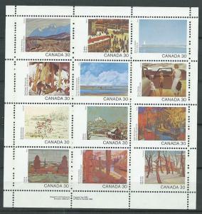 Canada SG 1047ab Sheetlet 1047a - l MUH bottom margin pri...