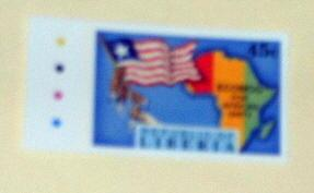 Liberia - 1149, MNH. Flag, Map. SCV - $1.60