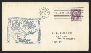 UNITED STATES Event Cover George Washington Bicentennial 1932 New York