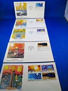 U.S. FIRST DAY COVER SETS - SET of 5 - 1982 KNOXVILLE WORLD'S FAIR   (FDC-27x)