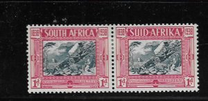 SOUTH AFRICA, B6, MINT HINGED,PAIRS, WAGON TRAIL