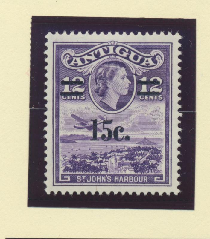 Antigua Scott #152, Mint Never Hinged MNH, 12 Cent Overprinted Issue From 196...