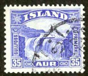 Iceland Sc# 172 Used 1931-1932 35a Gullfoss (Golden Falls)