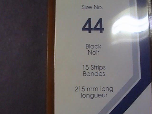 SHOWGARD MOUNTS # 44--215MM LONG x 44MM WIDE---15 STRIPS---BLACK /NEW