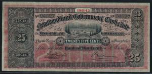 NEWFOUNDLAND #NF-7b 25¢ 1911-1912 VF GEM WLM4492