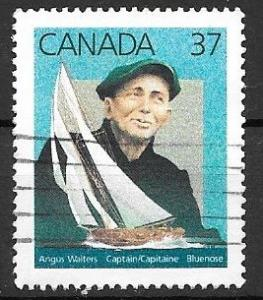 Canada 1988 37 cent Bluenose, Walters, used. Scott #1228