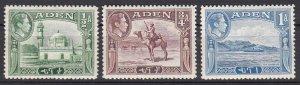 Aden Sc #16-18 Mint VF