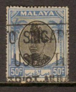 Malaya-Selangor   #91  used  (1949)  c.v. $0.35