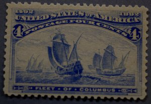 United States #233 Four Cent Columbian MNH