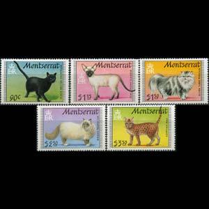 MONTSERRAT 1991 - Scott# 784-8 Cats Set of 5 NH