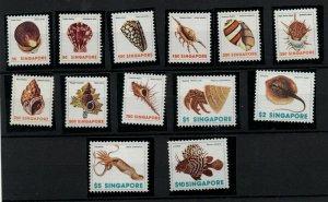 Singapore 1977 Shells MNH set to $10 SG289-301 WS24279