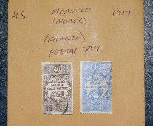 MOROCCO  FRANCE   Stamps postal tax  1917     ~~L@@K~~