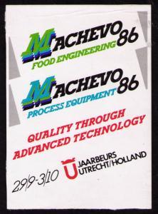 POSTER LABEL MACHEVO 86, Jaarbeurs, UTRECH, NETHERLAND 29/SEP-3/OCT 1986 (PL09