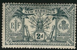 British New Hebrides Attractive SC#19 Mint Fine.SCV$9.25...Grab a Bargain!