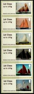 GB 2015 Post & Go Sail Ships M/S Self-Adhesive Mint NH