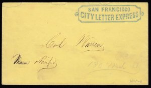 Boxed blue San Francisco City Letter Express, great strike, w/ 2006 PF cert