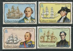STAMP STATION PERTH Gilbert Is.#296-299 Explorers Issue MNH 1977 CV$3.00