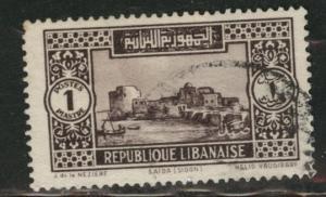 LEBANON Scott 120 used 1930 stamp
