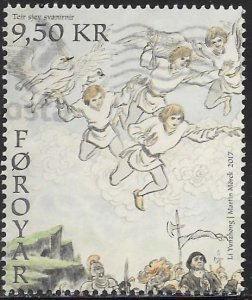Faroe Islands 687 Used - Legend of the Seven Swans - Men Turning into Swans