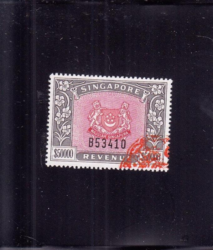 Singapore, Sc #39, Used ($50,000.00 Face Value) (24526)