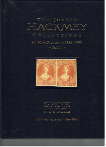 JOSEPH HACKMEY COLLECTION OF NEW ZEALAND