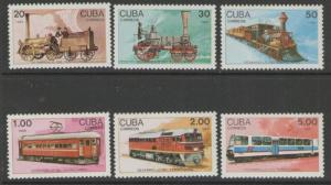 SG3365/70 1988 RAILWAY DEVELOPMENT MNH